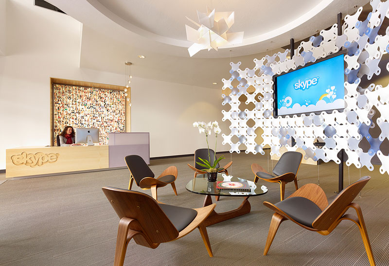 The head office of Skype in Palo Alto