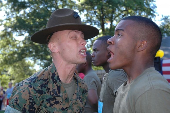 Marine Drill Instructors' Screaming Faces