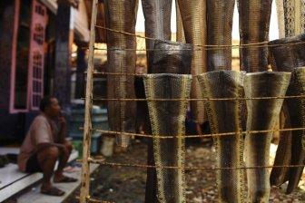 Production of Snakeskin Handbags