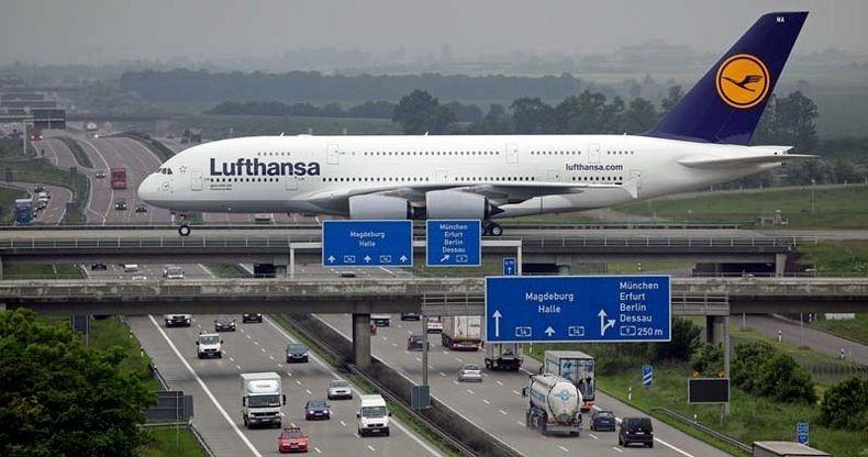 Planes over highway