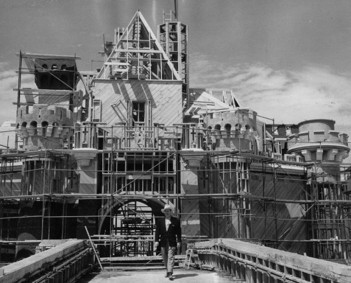 Construction of Disneyland