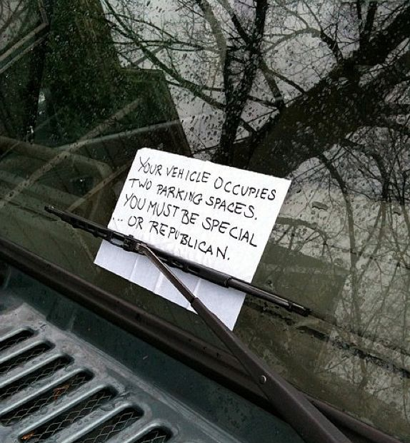 Notes Left On Car Windshields