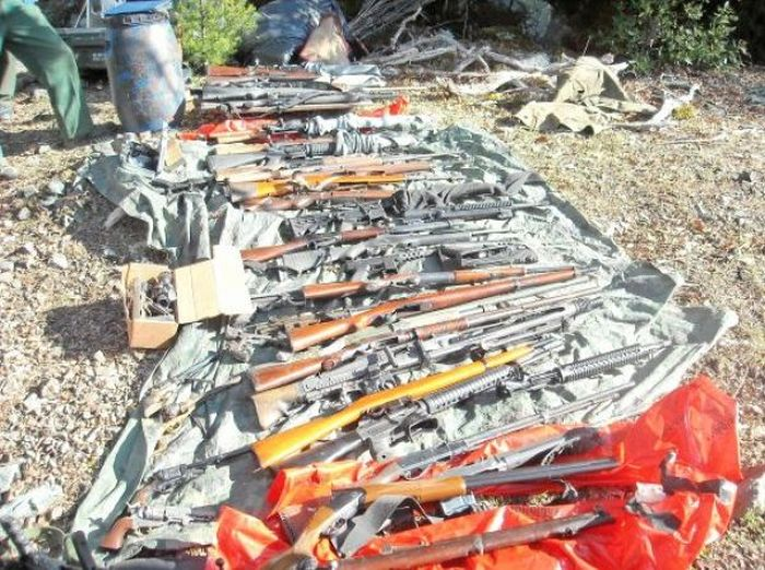 Cave with Guns, Drugs and Cash