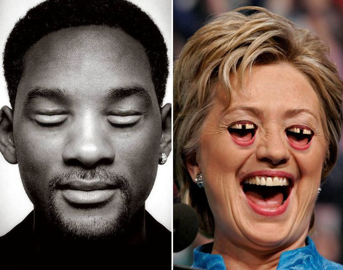 Celebrities With Moutheyes and Eyemouths