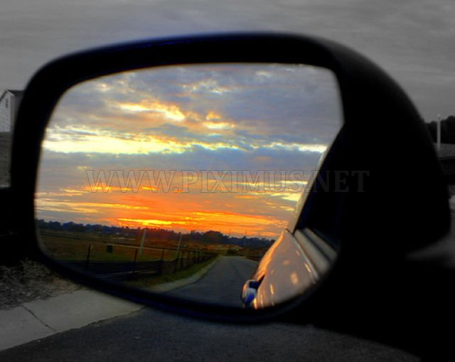 Amazing Views in the Rear-View Mirrors