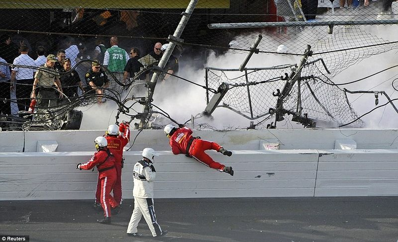 Serious accident in NASCAR Daytona 500, part 500