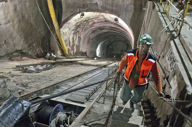 Construction of the metro in New York