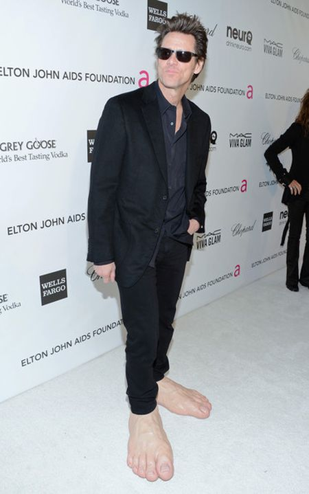 Jim Carrey at the 2013 Oscar Party