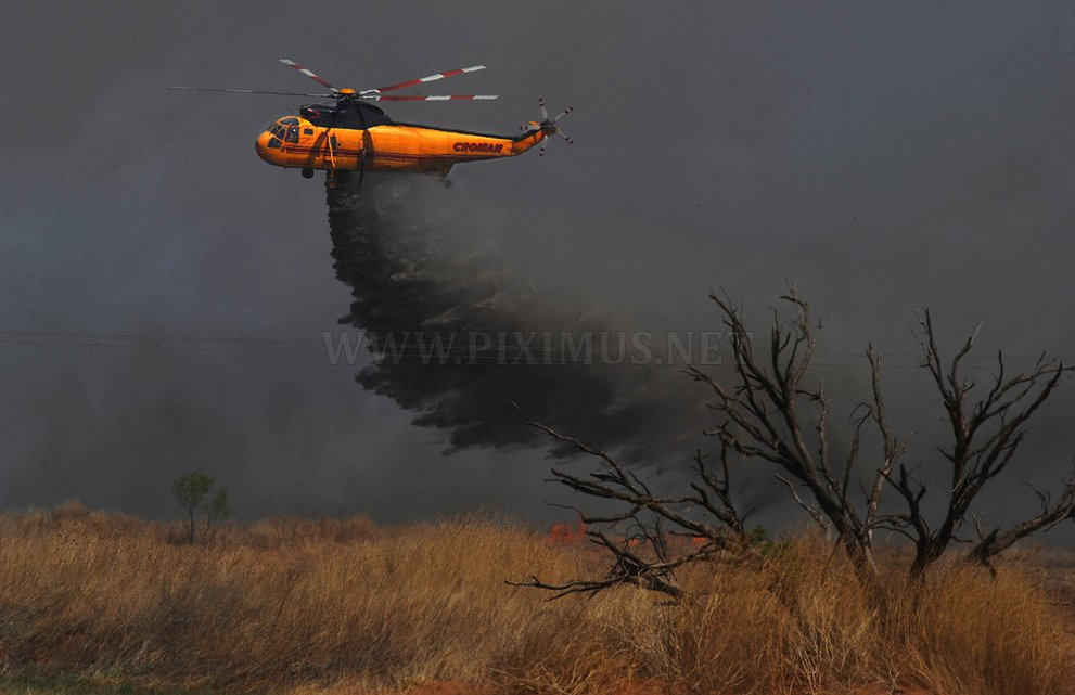 Forest fires in Texas