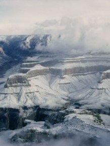 Grand Canyon Covered with Snow