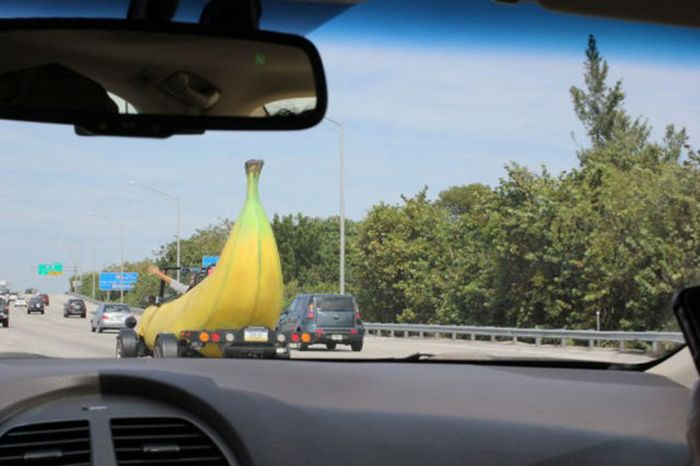 Banana Shaped Car