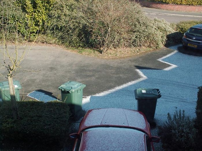 Beautiful Frost Shadows