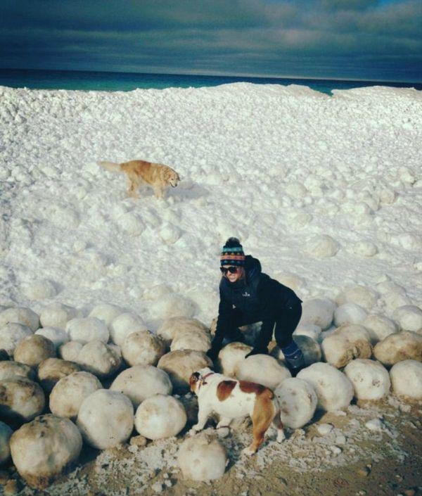 Ice Balls near Sleeping Bear Dunes