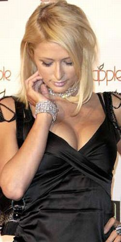Paris Hilton watch her breasts