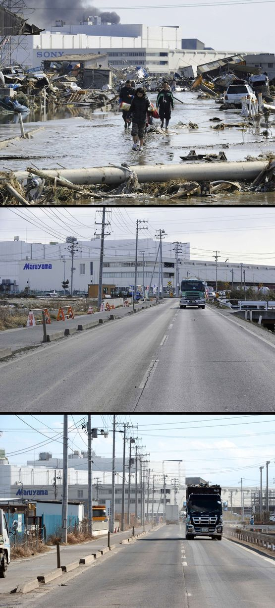 Japan Before and After Tsunami