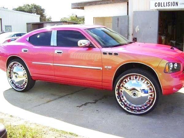 American cars with huge chrome wheels