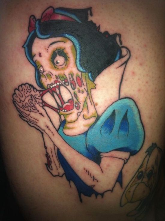 Strange Disney Inspired Tattoos