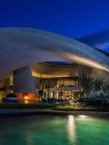 Bob Hope's Iconic John Lautner-Designed Volcano Home