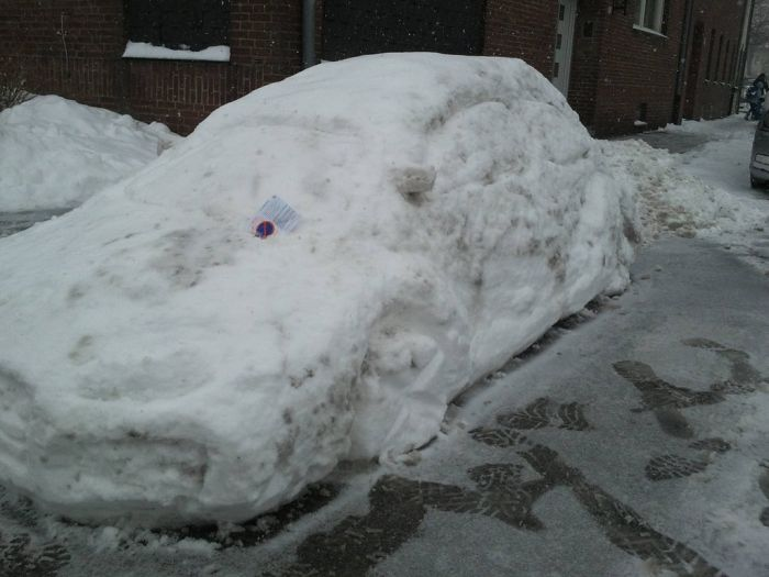 Parking Ticket for a Snowman's Car