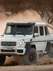 Mercedes G63 AMG 6×6 in action