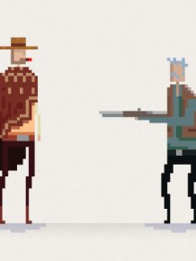 Famous Scenes From Movies In Pixelated GIFs