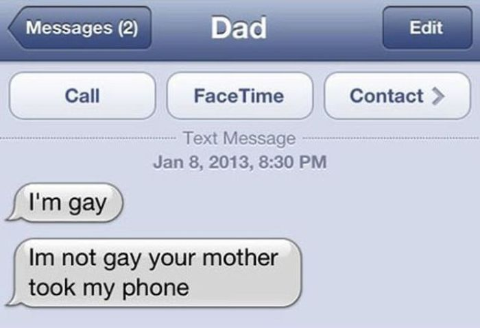 Texts You Don't Want To Get From Your Parents