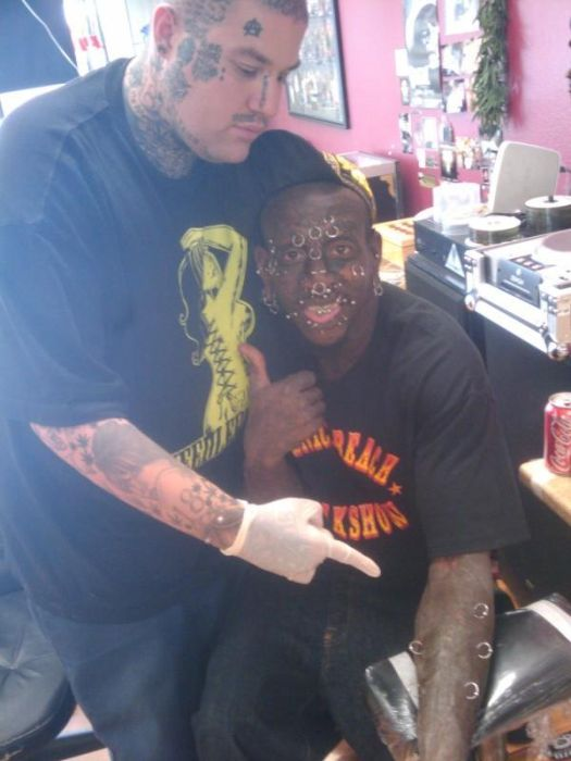Tattoo and Piercing Freak Marcus Boykin