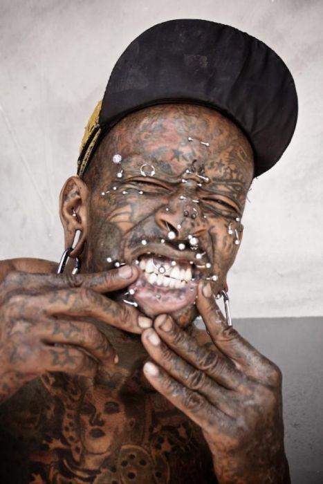 Tattoo and Piercing Freak Marcus Boykin