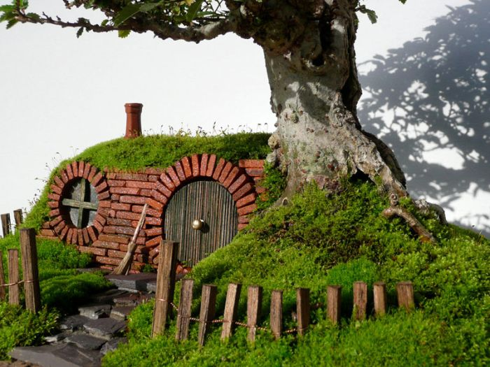 A Bonsai Baggins Hobbit Home