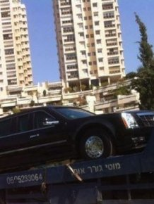 Barack Obama's Limousine Breaks Down in Israel