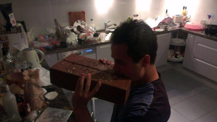 Giant Homemade Kit Kat