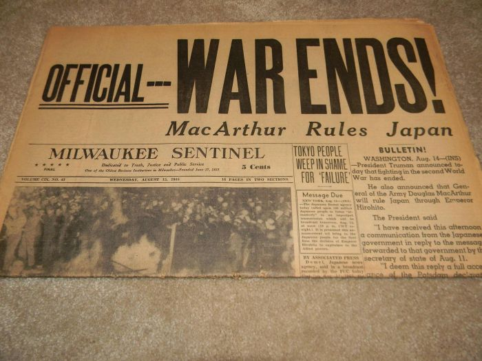 Old Newspapers with Historical Headlines