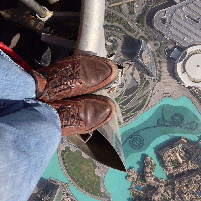 Rooftopping on the Top of Burj Khalifa