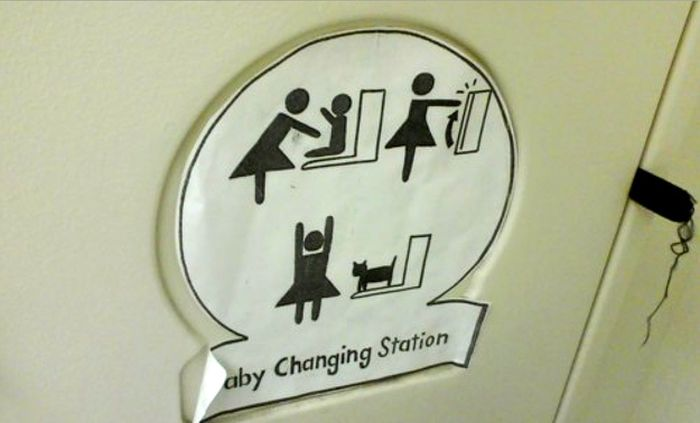 Funny Baby Changing Station Graffiti
