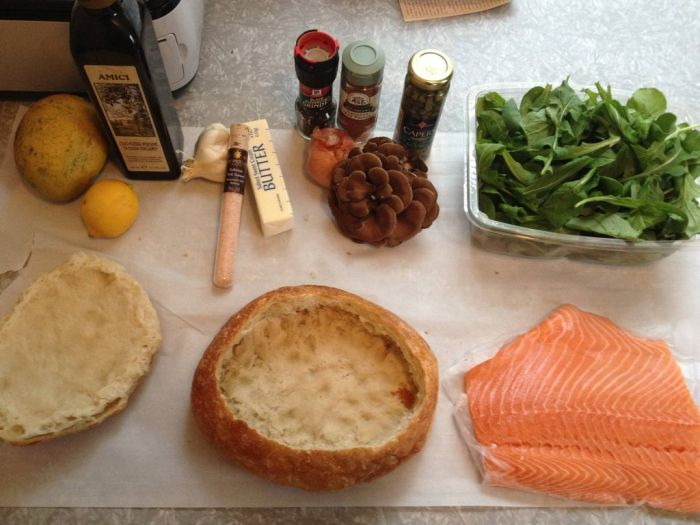 Salmon Shooter Sandwich