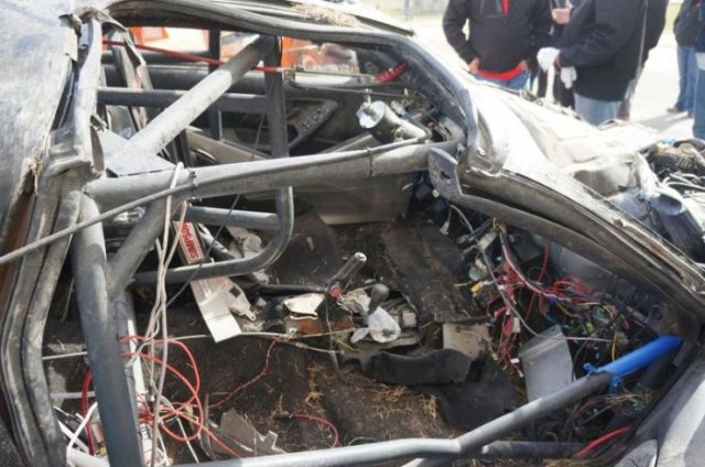 Car after a Terrible Crash