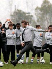 David Beckham Takes A Tumble