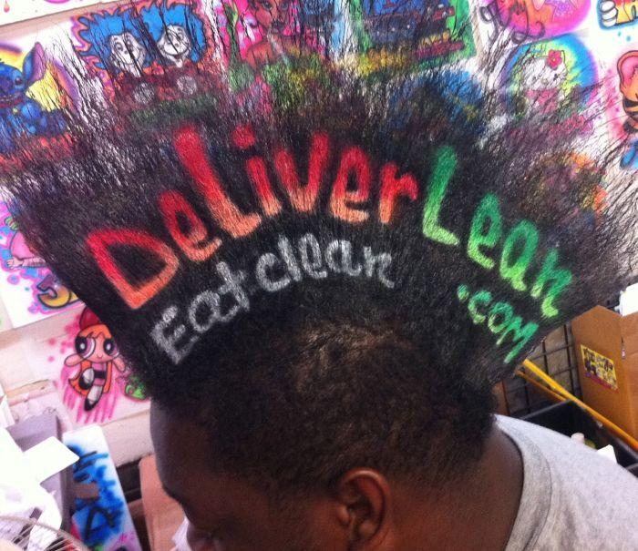 Ads on hair