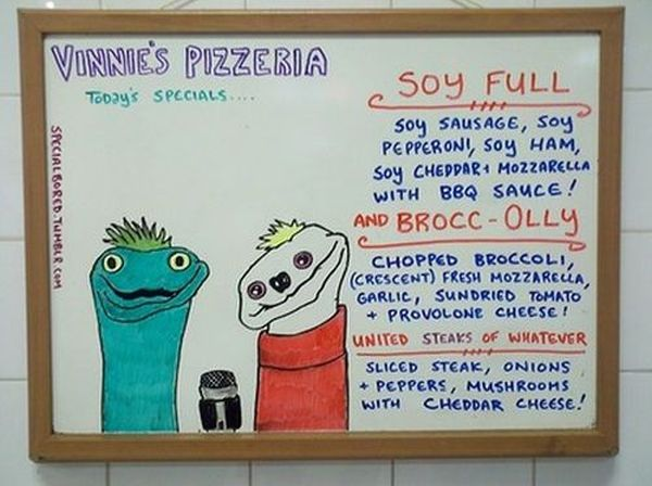 Menu Specials at Vinnie's Pizza