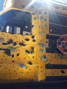 School Bus After a Gun Range