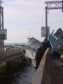 Truck Driver Rescued From Overturned Tractor-Trailer