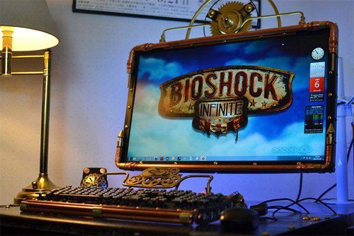 Steampunk Bioshock Infinite PC Case Mod