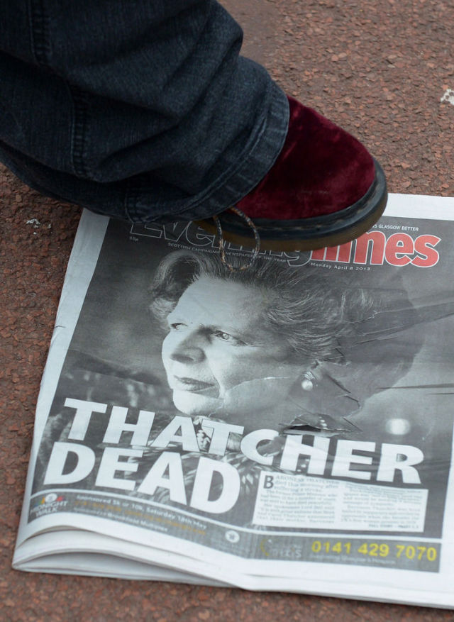 People Celebrate Margaret Thatcher's Death
