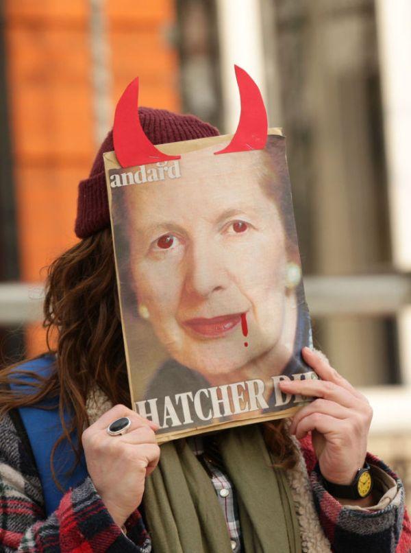 People Celebrate Margaret Thatcher's Death