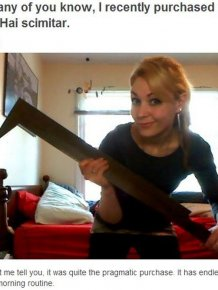 Every Girl Needs Uruk-Hai Scimitar