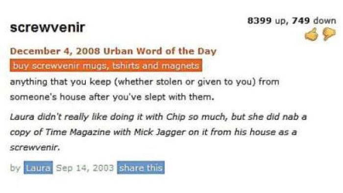 Funny Urban Dictionary Entries