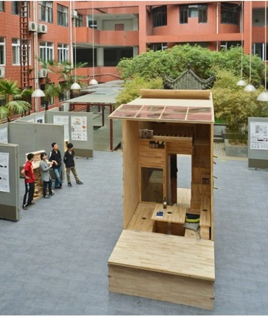 Student from China Builds a Tiny House
