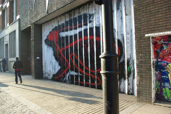Awesome Street Art by Roa