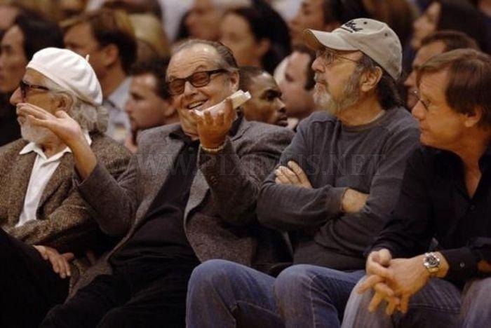 Jack Nicholson Being Himself