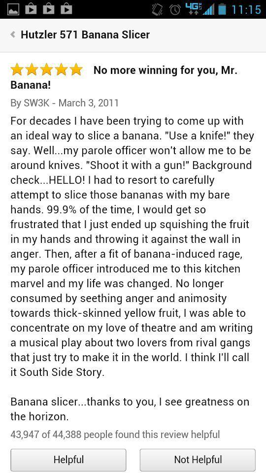 Amazon Banana Slicer Reviews